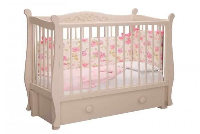 Картинка для Детская кроватка Можгинский лесокомбинат Джулия Милано продольный маятник