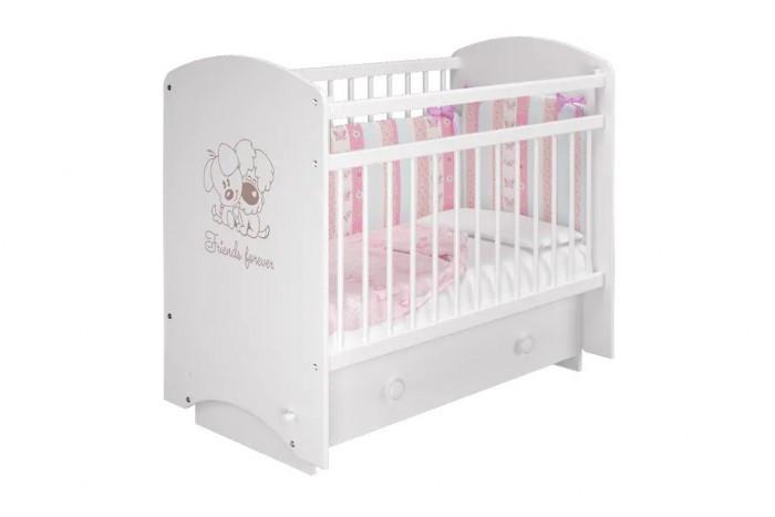 Купить Детские кроватки, Детская кроватка Можгинский лесокомбинат Эмили Друзья маятник поперечный
