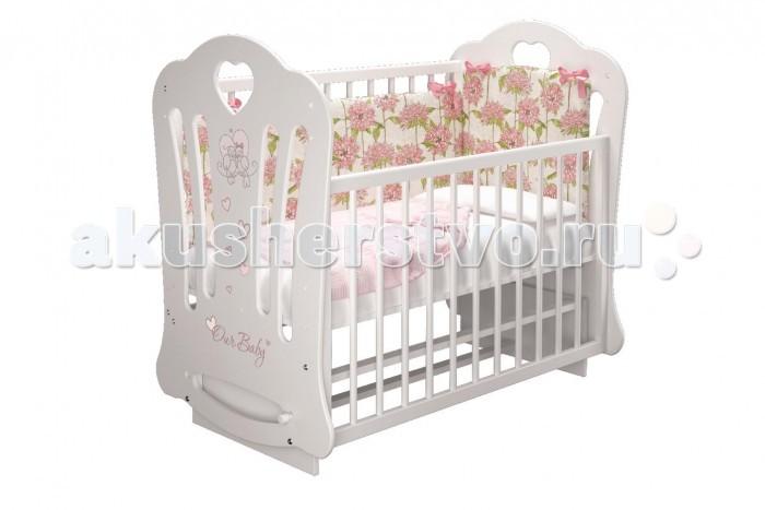 Купить Детские кроватки, Детская кроватка Можгинский лесокомбинат Шарлотта-2 Птички Бэби (маятник поперечный)