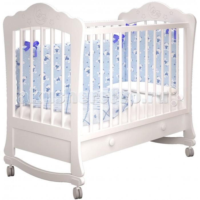 Детская кроватка Можгинский лесокомбинат Амалия-1 базовая с ящиком Милано