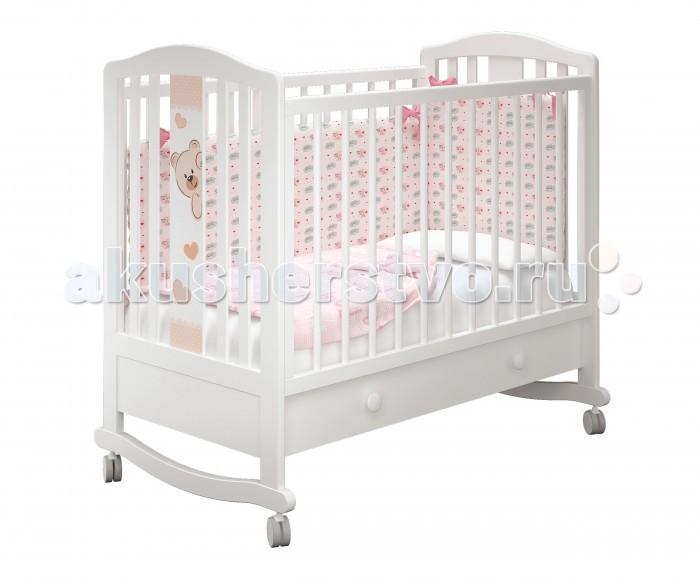Купить Детские кроватки, Детская кроватка Можгинский лесокомбинат Бьянка-1 базовая с ящиком Милано