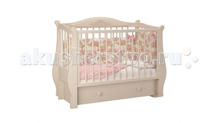 Детские кроватки Можгинский лесокомбинат Джульетта-1 продольный маятник Милано детские кроватки kitelli kito amore продольный маятник