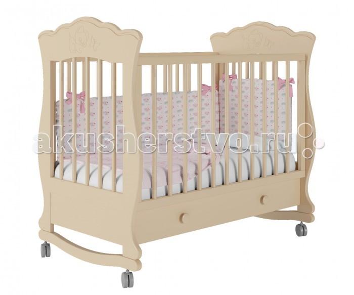 Детская кроватка Можгинский лесокомбинат Елена-1 базовая с ящиком Милано