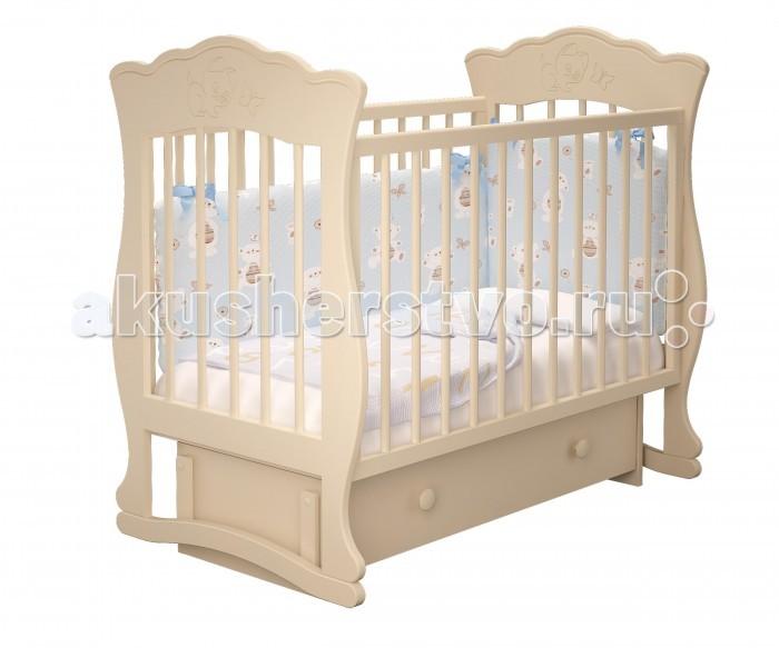 Картинка для Детская кроватка Можгинский лесокомбинат Елена-3 универсальный маятник Милано