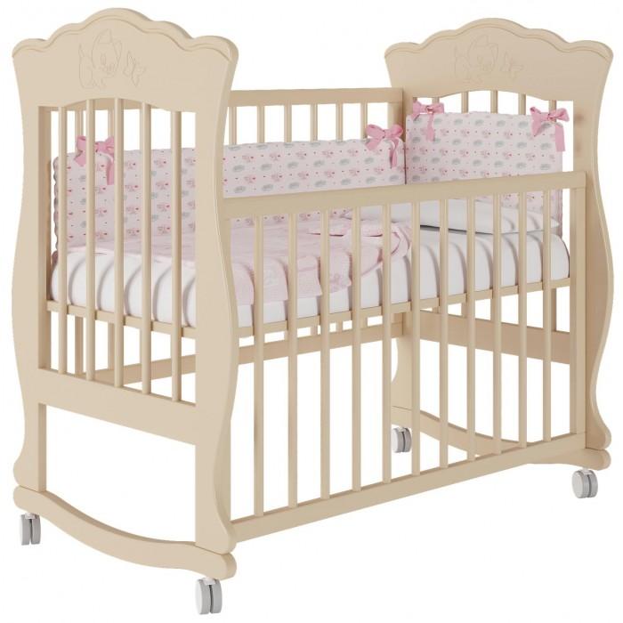 Детская кроватка Можгинский лесокомбинат Елена базовая без ящика Милано