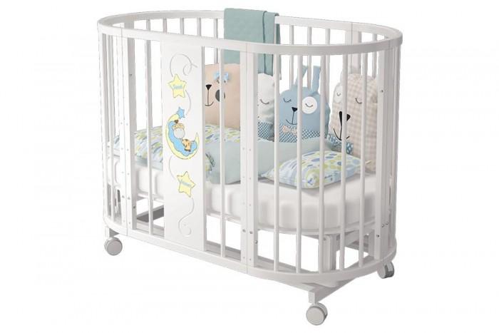 Детская мебель , Кроватки-трансформеры Можгинский лесокомбинат Эстель овальная 6 в 1 65х65 см арт: 294817 -  Кроватки-трансформеры