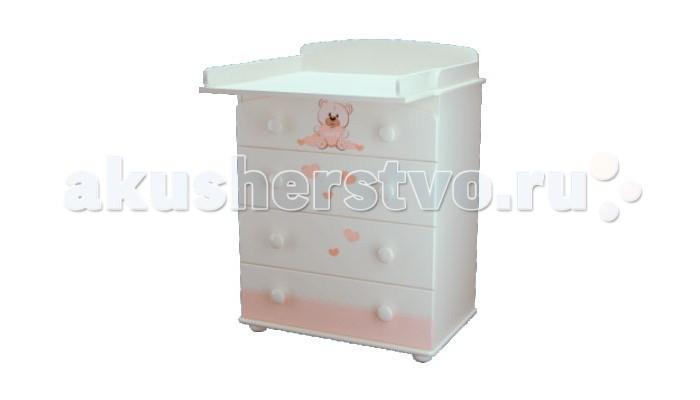 Детская мебель , Комоды Можгинский лесокомбинат Мишка Тедди Laluca пеленальный арт: 242080 -  Комоды
