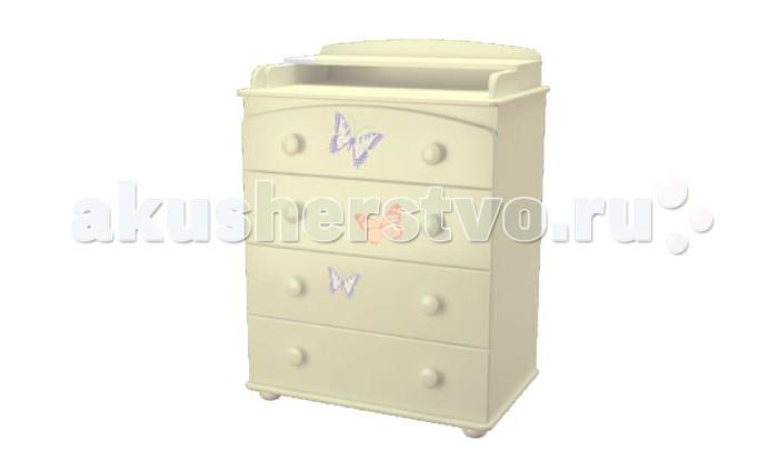 Детская мебель , Комоды Можгинский лесокомбинат Laluca Бабочки арт: 323284 -  Комоды