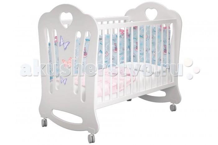 Детская кроватка Можгинский лесокомбинат Laluca Шарлотта Бабочки без ящика