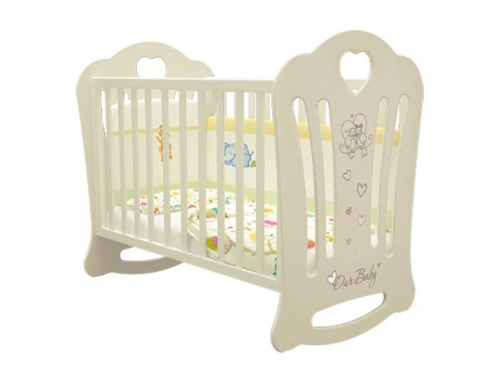 Купить Детские кроватки, Детская кроватка Можгинский лесокомбинат Laluca Шарлотта Птички без ящика