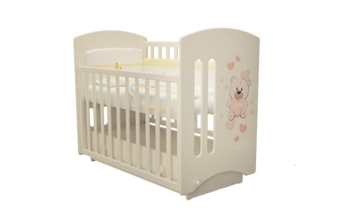 Купить Детские кроватки, Детская кроватка Можгинский лесокомбинат Laluca Софи Мишка Тедди (поперечный маятник)