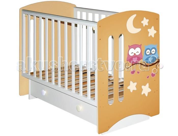 Детская кроватка Можгинский лесокомбинат Laluca Софи Совята поперечный маятник