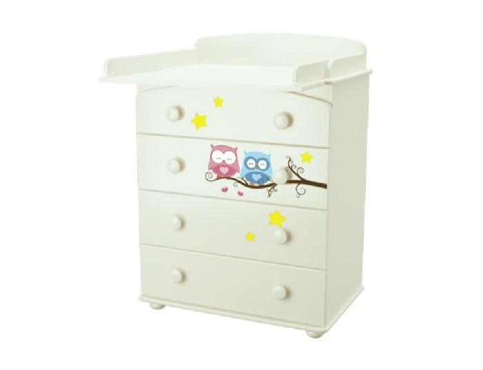 Детская мебель , Комоды Можгинский лесокомбинат Laluca Совята пеленальный арт: 116297 -  Комоды