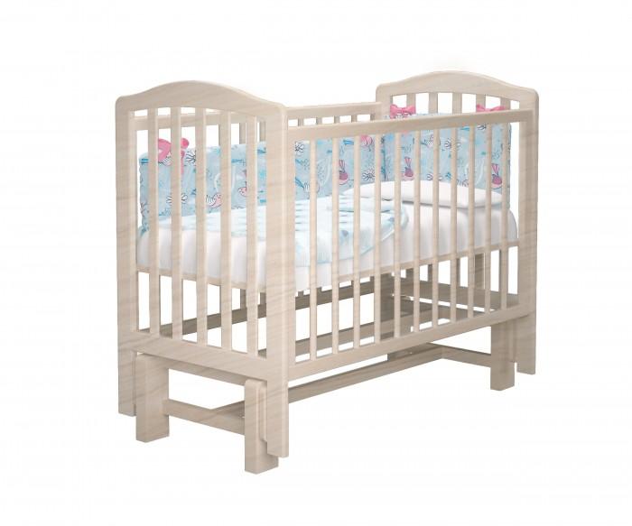 Купить Детские кроватки, Детская кроватка Можгинский лесокомбинат Пикколо-2 без ящика с маятником базовая Милано