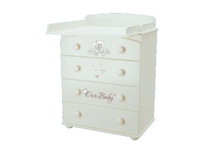 Детская мебель , Комоды Можгинский лесокомбинат Птички Бэби Laluca пеленальный арт: 242101 -  Комоды