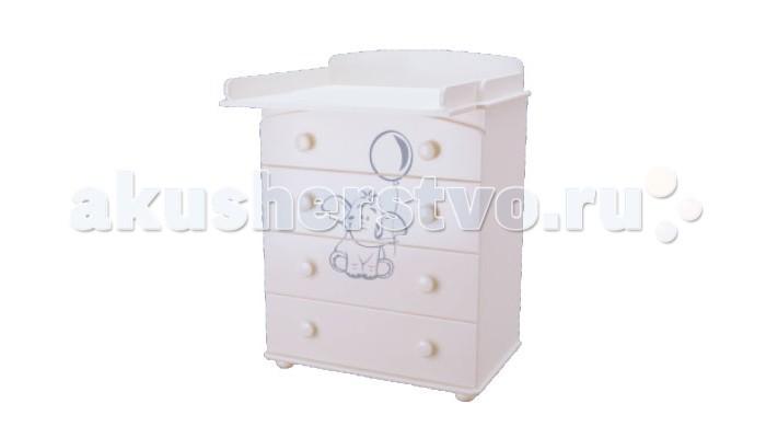 Детская мебель , Комоды Можгинский лесокомбинат Слоник Laluca пеленальный арт: 242116 -  Комоды