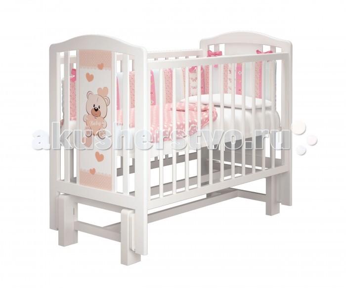 Детские кроватки Можгинский лесокомбинат Тедди-2 базовая без ящика Милано мишкa тедди 41 см