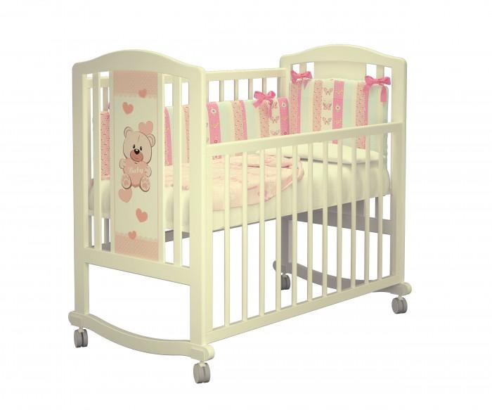 Купить Детские кроватки, Детская кроватка Можгинский лесокомбинат Тедди базовая без ящика Милано