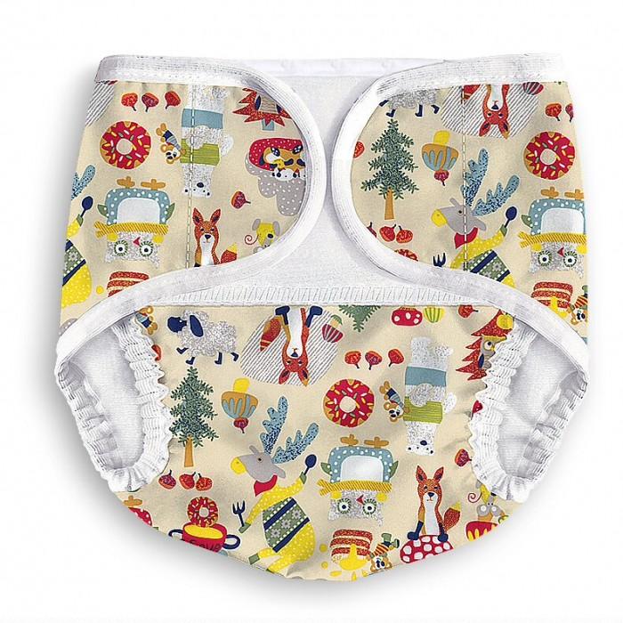 Многоразовые подгузники и трусики Multi-Diapers Lights Подгузники-трусики Лисы multi diapers