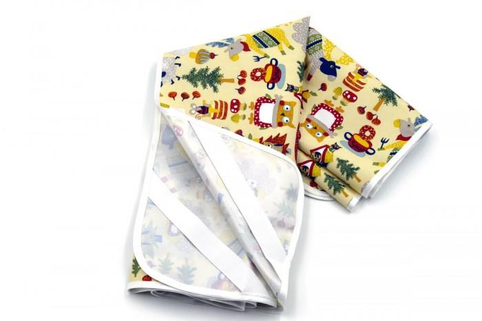 Наматрасники Multi-Diapers Наматрасник непромокаемый из микрофибры Лисы 60х120 см