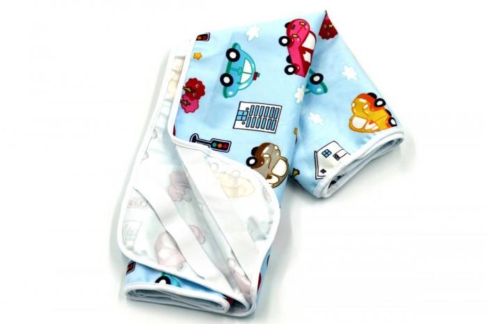 Наматрасники Multi-Diapers Наматрасник непромокаемый теплый из ультрасофта Машинки 60х120 см