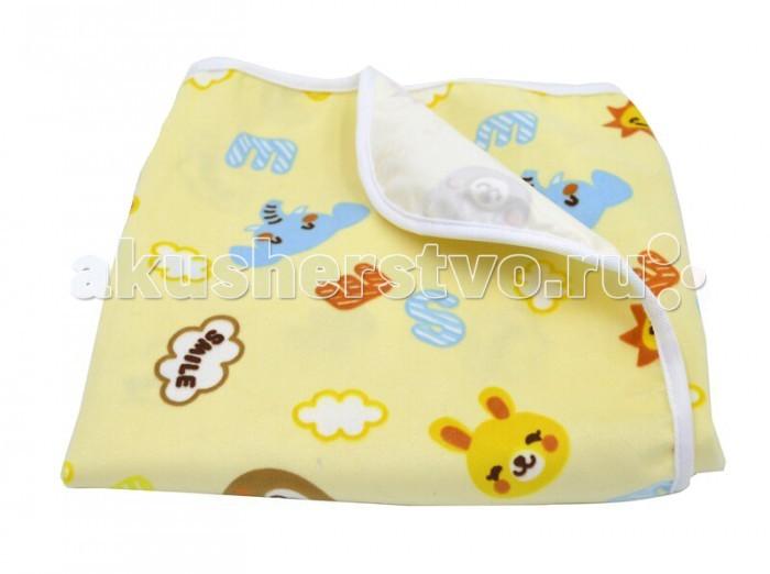 Пеленки Multi-Diapers непромокаемая тёплая для коляски из ультрасофта Smile 50х70 см multi diapers