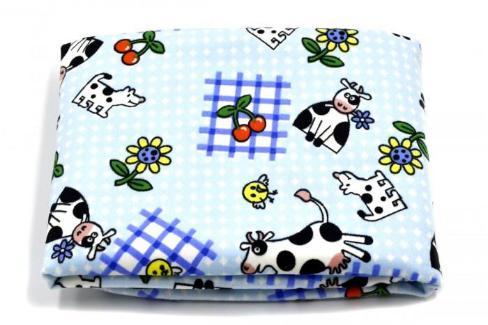Пеленки Multi-Diapers непромокаемая тёплая для кроватки из ультрасофта Коровы 60х90 см multi diapers