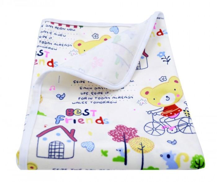Пеленки Multi-Diapers непромокаемая тёплая для кроватки из ультрасофта Велосипеды 60х90 см