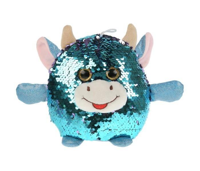 Купить Мягкие игрушки, Мягкая игрушка Мульти-пульти Корова из пайеток 17 см