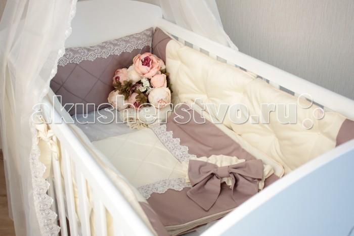 Постельные принадлежности , Бортики в кроватку Mummys Hugs Цельный Премиум Сатин арт: 403079 -  Бортики в кроватку