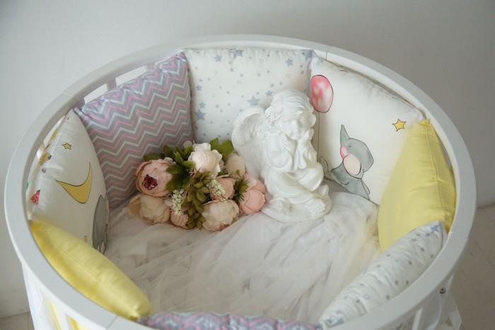 Бортики в кроватку Mummys Hugs Милые слоники для круглой кроватки 125х75