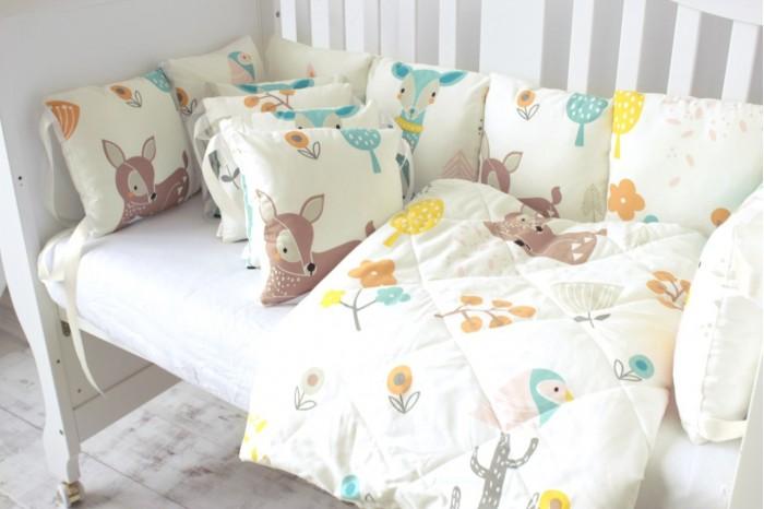 Купить Комплекты в кроватку, Комплект в кроватку Mummy's Hugs Оленята (14 предметов)