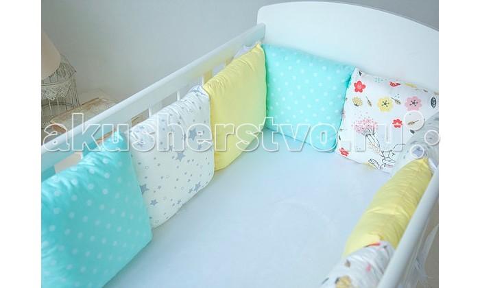 Постельные принадлежности , Бортики в кроватку Mummys Hugs с зайками для кроватки 120х60 арт: 425824 -  Бортики в кроватку