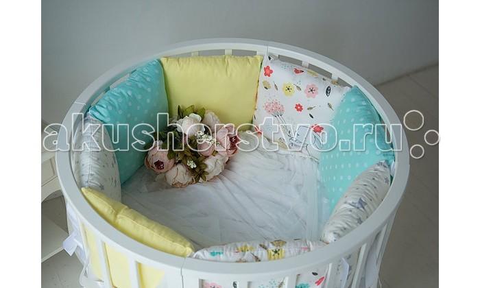 Постельные принадлежности , Бортики в кроватку Mummys Hugs с зайками для круглой кроватки 125х75 арт: 425819 -  Бортики в кроватку