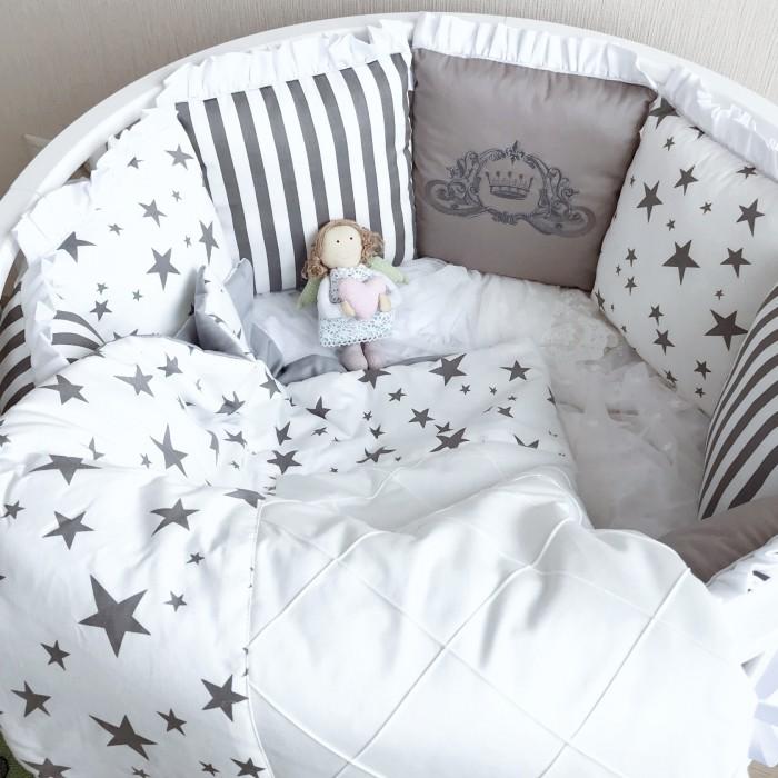 Комплект в кроватку Krisfi Звездный (13 предметов)