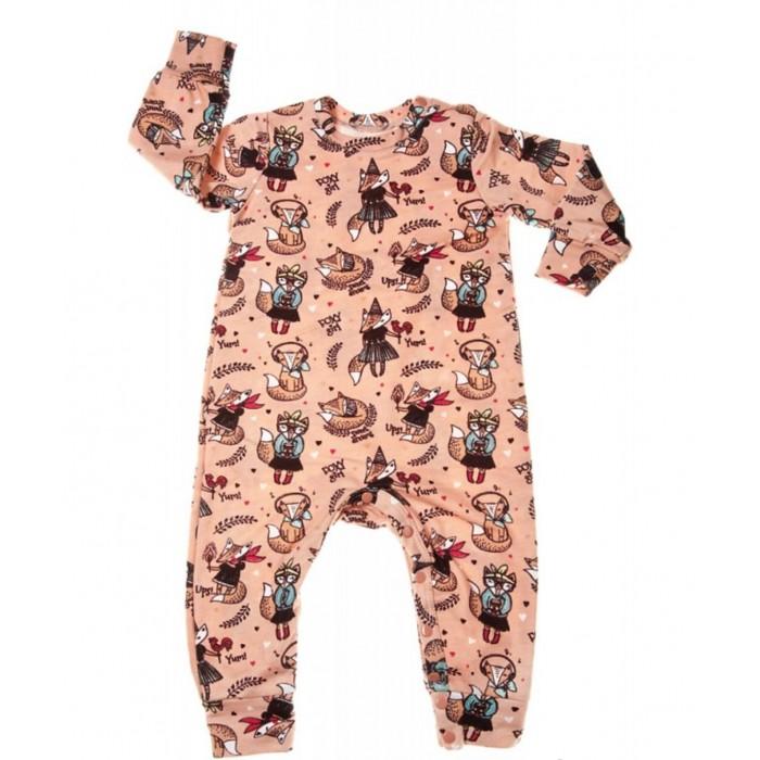 Пижамы и ночные сорочки Mums Era Комбинезон-пижама Лисички конверты трансформеры mums era комбинезон конверт трикотаж