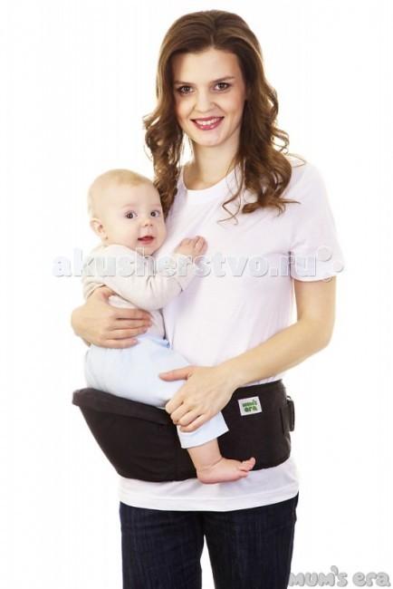 Рюкзак-кенгуру Mums Era ХипситРюкзаки-кенгуру<br>Хипсит Mums Era — это современная, легкая, мобильная и удобная детская переноска. Она предназначена для ношения детей от 6-8 месяцев до 3 лет. Хипсит может выдержать большую нагрузку, но оптимальнее всего его использовать до веса ребенка 15-18 кг.  Что удобно делать, используя хипсит Mums Era? ездить с малышом в путешествия — аэропорт, вокзал, гостиница — не надо волноваться, что малыш потеряется в незнакомом месте или будет напуган, ведь на хипсите он совсем рядом с мамой необходимость передвигаться с ребенком на руках, имея возможность одновременно делать что-то еще (например, делать уборку или другие мелкие дела по хозяйству) период, когда ребенок учится ходить (сделав несколько шагов — просится на ручки, потом обратно на землю, и так до бесконечности — с хипситом этот процесс становится более удобным)  Чем хипсит лучше других переносок? Это самая компактная и простая переноска среди существующих сегодня на планете Земля. В нем нет ничего лишнего - никаких бесконечных застежек, ремешков, колец или длинных полотнищ (которые иногда заочно пугают начинающих слингомам при мысли о слинге-шарфе) Это самый быстрый вид переноски. Надеть хипсит можно за 5-10 секунд! Пара движений руками - по сложности примерно таких же, как при надевании ремня - и переноска уже у вас на талии и готова к использованию! Хипсит с удовольствием будут носить папы, которые иногда могут с предубеждением относиться к слингам  Главная задача хипсита - равномерно перенести вес ребенка с маминой спины на мамины бедра. Это становится возможным благодаря специальной анатомичной конструкции пояса изделия (пояс удобно облегает талию) и сиденья (оно имеет правильную форму и удобно ложится на бедро, нигде ничего не пережимая и не создавая неудобств)  для переноски детей от 6 месяцев до 2-3 лет спасение для спины родителя  размер регулируется от 44 до 52 надежная фурнитура состав: 100% полиэстер