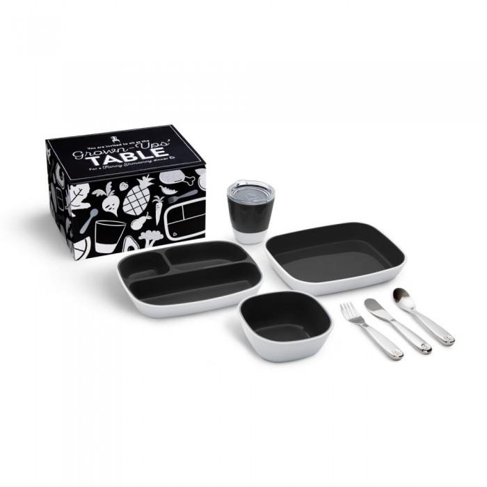 Фото - Посуда Munchkin Набор посуды 3 миски стаканчик столовые приборы 51911 набор посуды splash 7 предметов 3 миски стаканчик столовые приборы ц фиолетовый