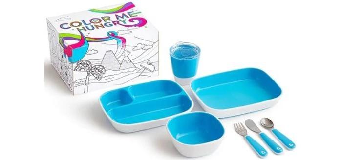 Munchkin Набор посуды 3 миски стаканчик столовые приборы фото