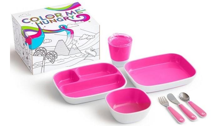 Фото - Посуда Munchkin Набор посуды 3 миски стаканчик столовые приборы набор посуды splash 7 предметов 3 миски стаканчик столовые приборы ц фиолетовый