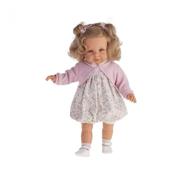 Munecas Antonio Juan  Кукла Нина 55 смКукла Нина 55 смMunecas Antonio Juan Кукла Нина 55 см. Очаровательные куклы-девочки - новые образы классических кукол, созданные испанским производителем Мунекас Антонио Хуан.   Выразительные глазки обрамлены длинными ресницами. У девочек симпатичные лица, выполненные с тщательной прорисовкой деталей. Густые шелковистые волосы легко расчесывать и делать различные прически.   Куклы изготовлены из высококачественного винила с добавлением силикона.  Размер куклы: 55 см<br>
