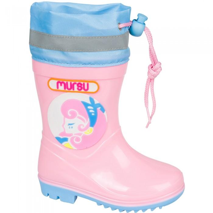 сапоги для девочки лель цвет черный м 4 1139 размер 37 Резиновая обувь Mursu Сапоги резиновые для девочки 205763