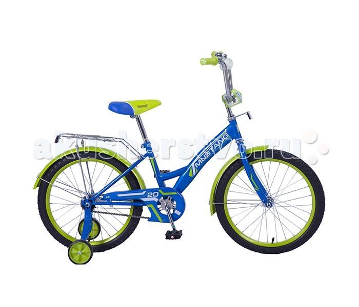 """Велосипед двухколесный Mustang рама GW 20 хромрама GW 20 хромВелосипед двухколесный подростковый Mustang рама GW 20 подойдет уже тем детям, которые умеют хорошо держать баланс и самостоятельно катаются на двухколесном велосипеде.    Особенности:  стальная классическая рама gw-тип,   1 скорость,   задний ножной тормоз,   регулируемый хромированный руль bmx с мягкой защитной накладкой,   сидение с пенным наполнителем,   багажник с пружинным зажимом,   звонок,   односоставной шатун,   страховочные колеса с усиленным кронштейном,   защита цепи """"p"""" типа,   крашенные крылья,   стальные крашенные обода,   ограничитель поворота руля.<br>"""