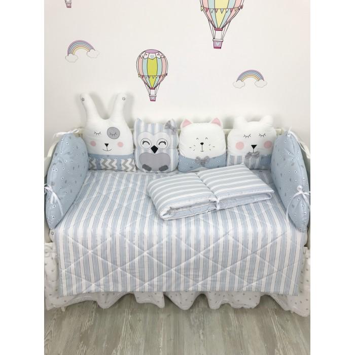 Комплект в кроватку My Baby Квартет и короны (9 предметов)