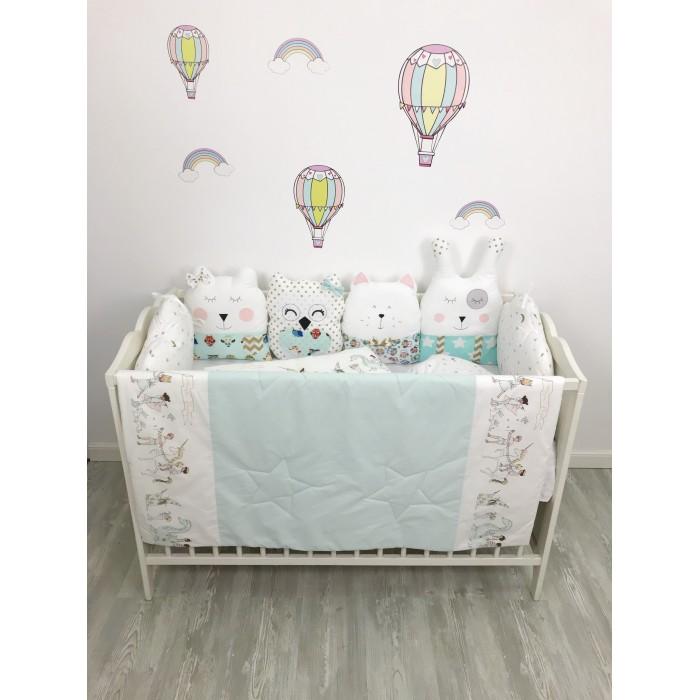 Комплект в кроватку My Baby Квартет и парад (9 предметов)