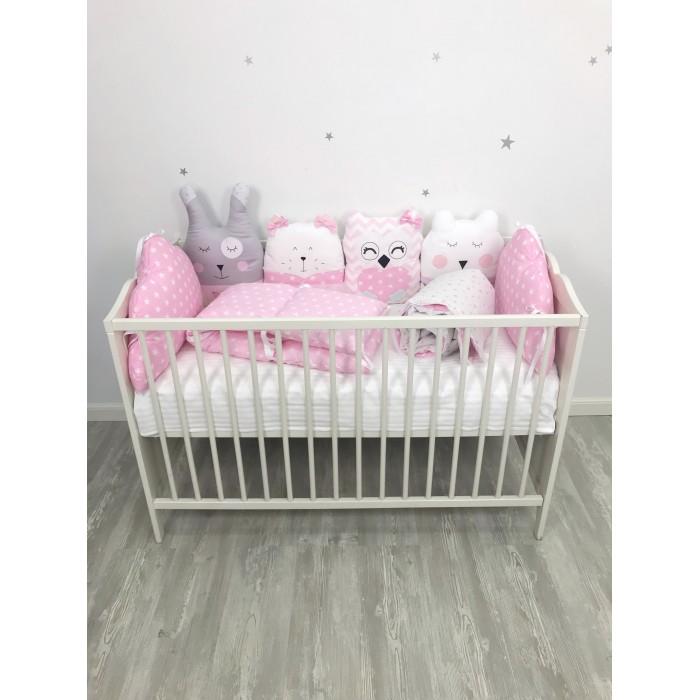 Комплект в кроватку My Baby Квартет и звездопад (9 предметов)