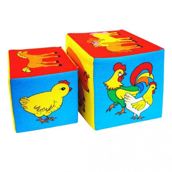 Развивающие игрушки Мякиши Кубики 2 шт. кубики мякиши животные 2 236