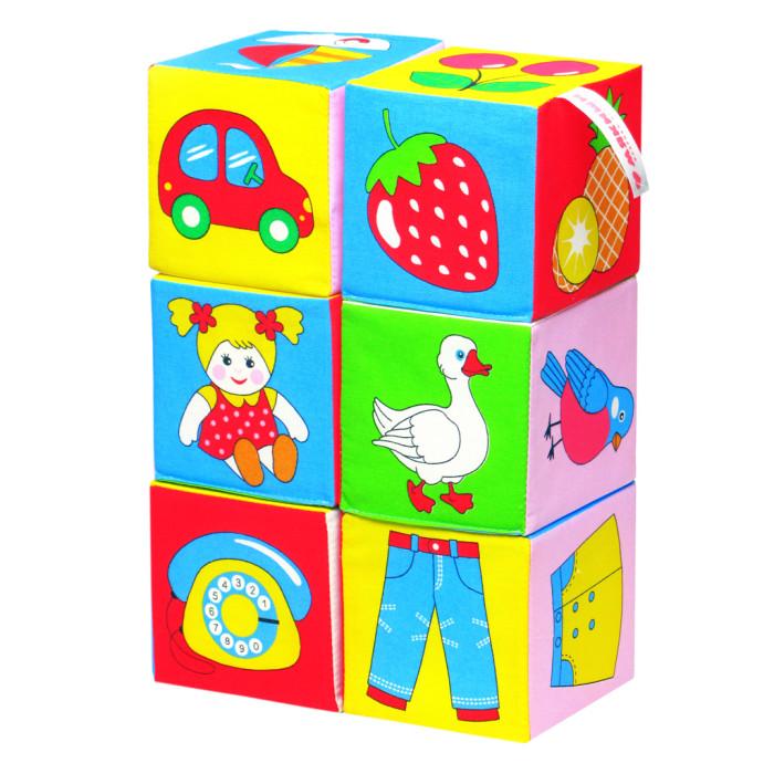 Развивающие игрушки Мякиши Кубики Предметы 6 шт. simba развивающие кубики 0 6