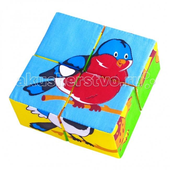 Развивающие игрушки Мякиши Кубики Собери картинку 4 шт.