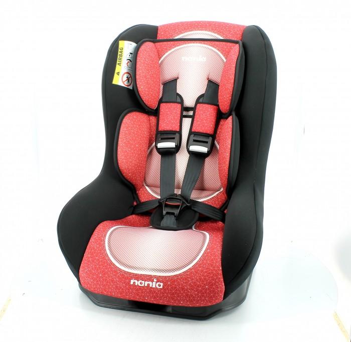 Автокресло Nania Driver FSTГруппа 0-1 (от 0 до 18 кг)<br>Модель Nania Driver одна из лучших в линейке французского производителя. Каждое автокресло Nania Driver проходит дополнительные испытания и краш-тесты и только потом получают сертификаты о безопасности. Покупка автокресла Nania Driver - гарантия безопасности Вашего малыша.  Материал: каркас из полипропилена, поглощающая силу удара прослойка из полистирола. Крепление: надежное крепление автокресла к автомобильному сиденью по ходу движения автомобиля (ремень автомобиля проходит между основой и корпусом автокресла). Устанавливается в автомобилях с 3-х точечными ремнями безопасности на переднем сиденье рядом с водителем или на заднем сиденье с края. При весе ребенка от 0 до 10 кг кресло устанавливается против хода движения автомобиля. При весе ребенка от 10 до 18 кг кресло устанавливается по ходу движения.   Автокресло имеет специальный мягкий вкладыш и подголовник   Дополнительная усиленная боковая защита   5 положений спинки   5-ти точечный ремень безопасности с удобной системой натяжения   Новая система крепления автокресла облегчает его установку в автомобиль   Возможна ручная стирка тканевых частей  Габариты: 48x44x59 см .  Внутренние размеры: 30x28x49 см.  Вес: 6,7 кг.  Страна-Производитель: Франция.